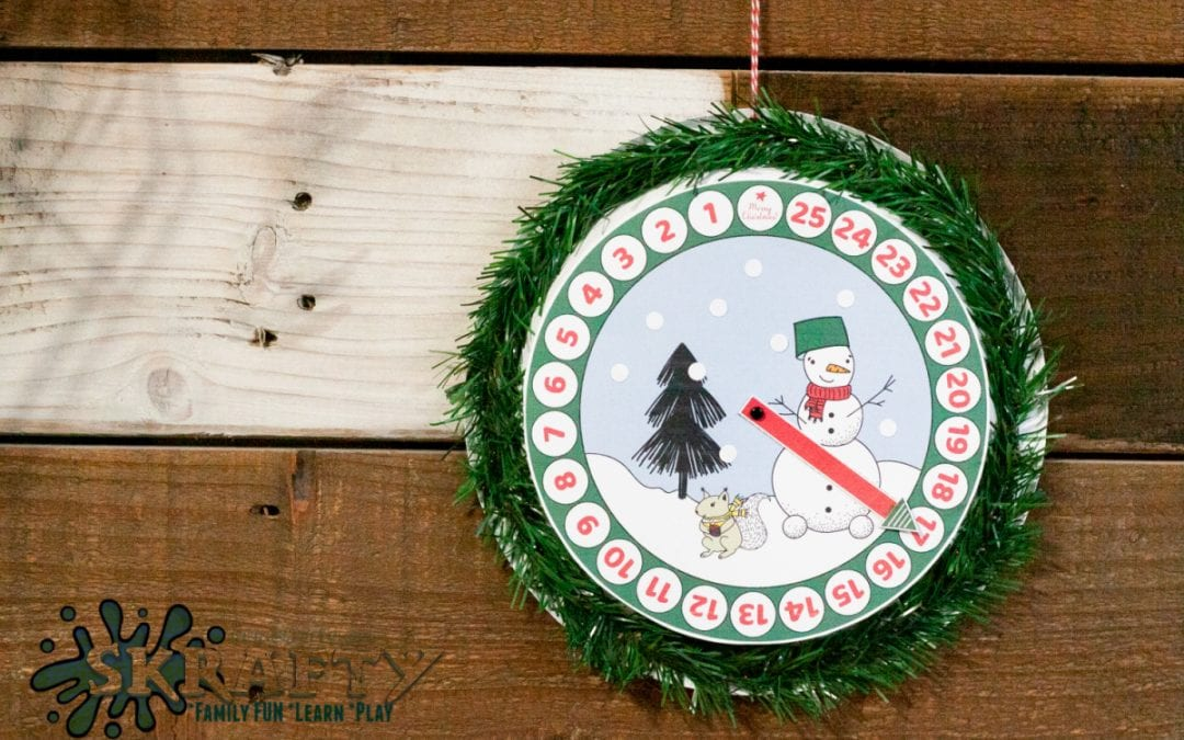 Free Printable Countdown to Christmas Clock + a $500 PayPal Giveaway