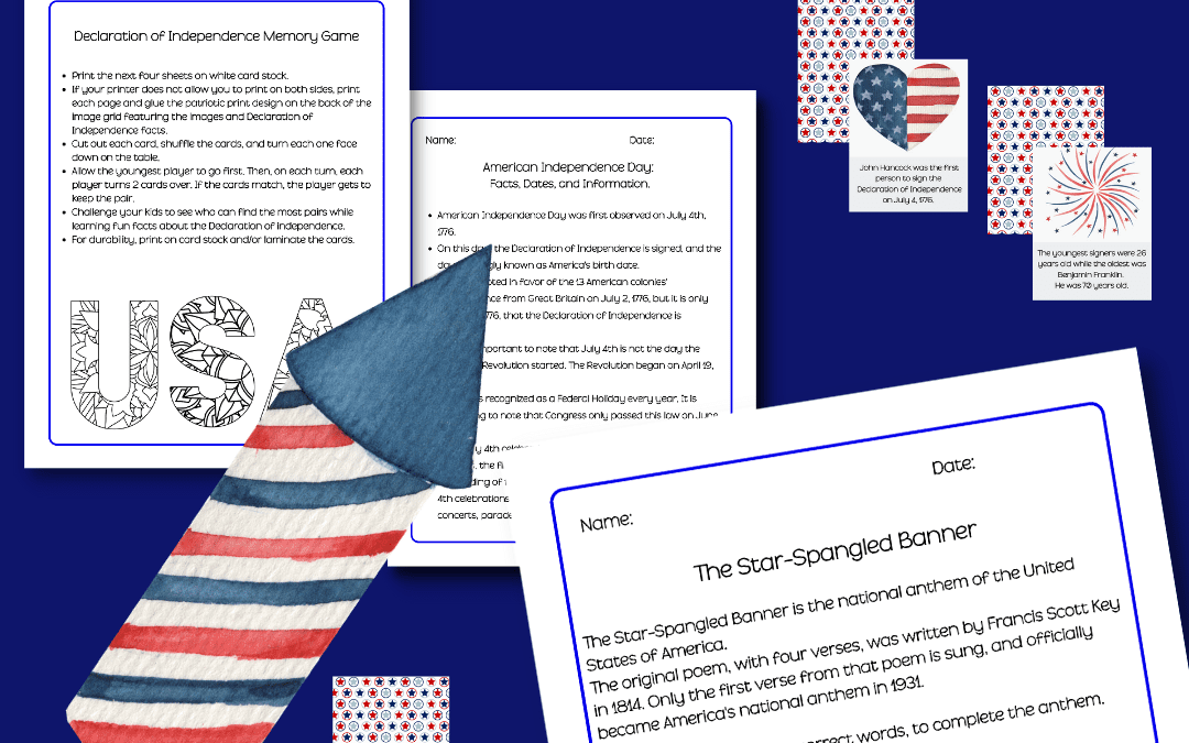 Independence Day Facts and Activity Pack